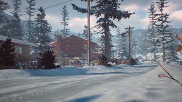 Les premières images montrent un petit village sous la neige