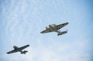 Des avions d'époque ont survolé les commémorations