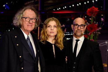 Clémence Poésy et Geoffrey Rush