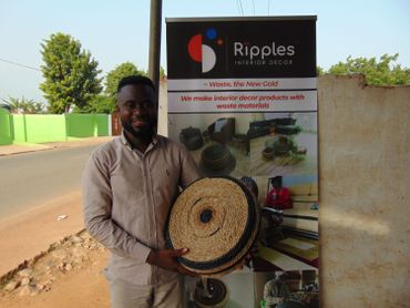Jeffrey Kwabena Yeboah espère exporter ses produits d'ici à deux ans.