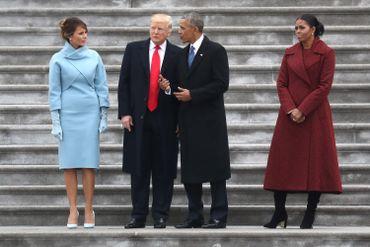 Les couples Obama et Trump lors de l'investiture de Donald Trump