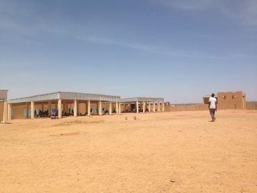 Le centre de transit pour les migrants de l'OIM, l'Organisation Internationale pour les Migrations à Agadez