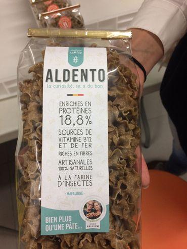 Une gamme de pâtes aux ténébrions, des vers de farine élevés dans une ferme biologique aux Pays-Bas