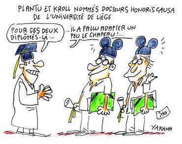 Plantu et Kroll nommés docteurs honoris causa de l'Université de Liège