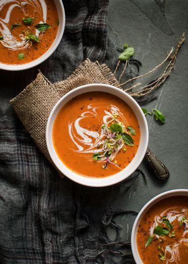 Soupes à la tomates