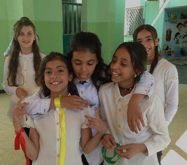 Jordanie: fillettes de Homs