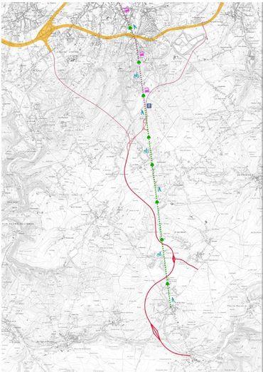 """N5: découvrez le tracé du """"trident"""" au sud de Charleroi"""