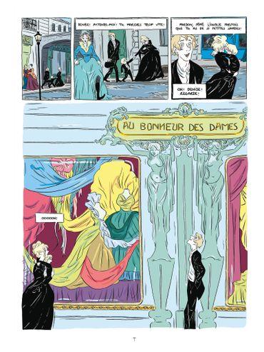 """Une planche d'""""Au bonheur des dames"""""""