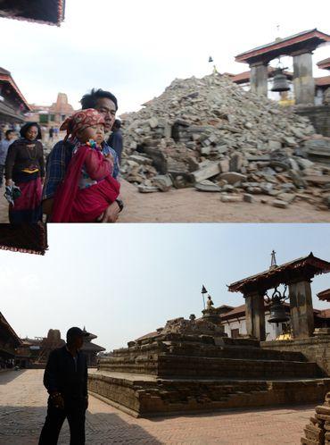 Le Népal, un an après à Durbar Square.