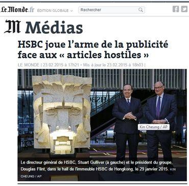 Journal du Web : HSBC et le chantage à la publicité