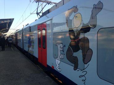 Un train à l'effigie du reporter fera le trajet entre Anvers et Nivelles pendant la durée de l'exposition.