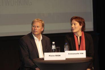 Emmanuelle Vin (droite) et Pierre Rion (gauche)