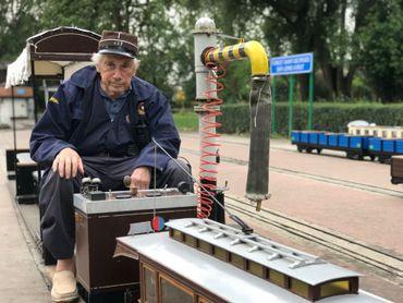 Jacques Streel, l'un des bénévoles de Petit Train à Vapeur de Forest