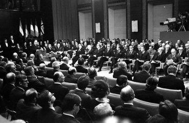 Cérémonie lors de la signature du traité d'adhésion en 1972 au Palais d'Egmont