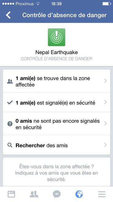 Séisme au Népal: la géolocalisation Facebook pour rassurer ses proches