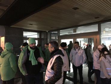 Piquets de grève à Liège
