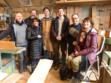 L'équipe des Ambassadeurs en tournage à Havelange