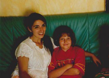 Franca avec Marina, lors d'un de ses premiers séjours en Belgique