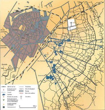 Arras, Base militaire Anglaise. Organisation de la ville avec ses souterrains.