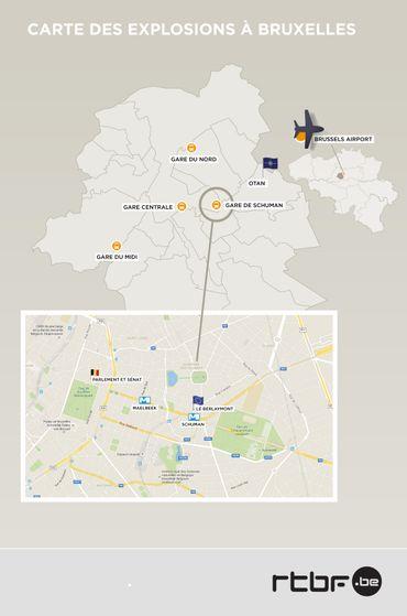 Situation des différents points concernés par les attentats et les perturbations qui en ont résulté.