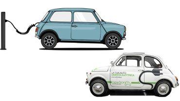 Fiat 500 et Austin Mini converties à l'électricité