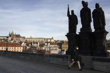 Pont Charles, à Prague, en mars 2020