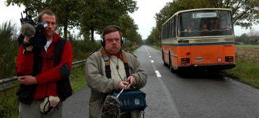 """Le bus qui a servi sur le tournage de """"Cow Boy"""" en 2007."""