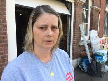 Inondations: Martine Geissen, sauvée des eaux