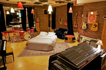 Un studio d'enregistrement en guise de chambre