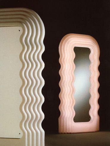 Le miroir aux ondulations, éteint et allumé