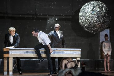 Don Giovanni à la Monnaie : Andreas Wolf (Leporello), Jean-Sébastien Bou (Don Giovanni), Sir Willard White (Il Commendatore), Barbara Hannigan (Donna Anna)