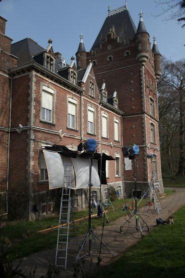 Le Château de Louvignies où Marie Gillain a interprété des scènes du film Landes.