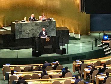 Le Premier ministre, Charles Michel devant l'Assemblée générale de l'ONU, le 27 septembre 2018