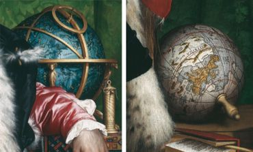 plate 4. DETAILS OF THE CELESTIAL AND TERRES- Size of the details: ca. 35 X 35 cm and ca. 26 X 26 cm. Photo- TRIAL GLOBES FROM THE AMBASSADORS. (See p. 135.) graph/ Hans Holbein's 1533 painting is illustrated as figure 6.1.
