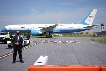L'air Force One transportant Donald Trump en Pennsylvanie, le 20 mai 2020