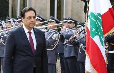 Hassan Diab, le nouveau premier ministre libanais, le 22/01 à Beyrouth