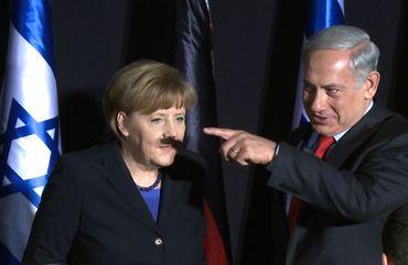 Une photo de Benjamin Netanyahu et Angela Merkel fait fureur sur la Toile