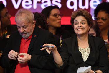 Lula Da Silva et Dilma Rousseff à Brasilia, le 1er juin 2017