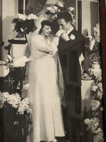 Henri Kichka le jour de son mariage avec Lucia Swierczynski, celle qui l'a fait redevenir quelqu'un