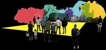 Communa favorise l'usage transitoire des bâtiments vides à Bruxelles.