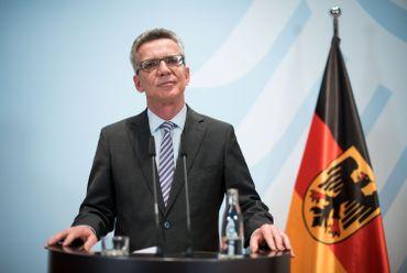 Le ministre de l'Intérieur Thomas de Maizière.