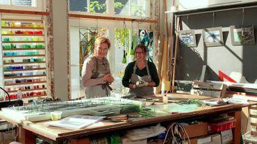 Visite de l'atelier d'Aurélie Moreau,artisan verrier créateur