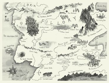 Roland Chambers's map for Lev Grossman's fantasy novel 'The Magicians' (2009).