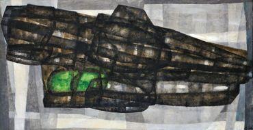 UBAC Raoul (1910-1985), Couple, pommes, pain, 1949 Huile sur toile