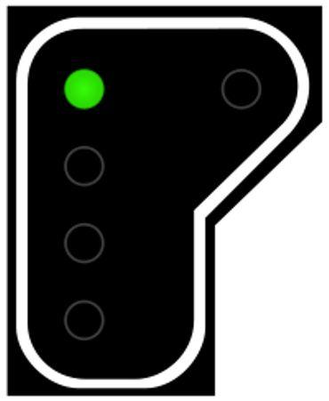 Un signal vert autorise le passage.