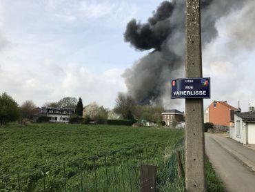 Important incendie dans le centre de recyclage Van Gansewinkel à Wandre (photos et vidéos)