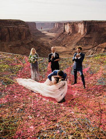 Les photos de ce mariage dans les airs sont littéralement à couper le souffle !