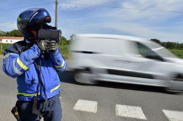 Contrôle de vitesse par un gendarme