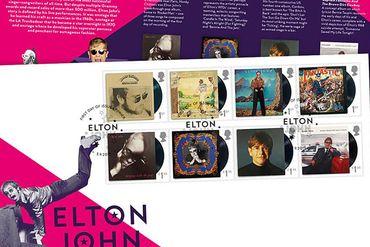 Des timbres Elton John