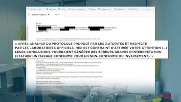 Extrait du mail envoyé par HeX au SPF Economie le 20 avril